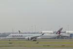 しかばねさんが、シドニー国際空港で撮影したカタール航空 A350-1041の航空フォト(飛行機 写真・画像)