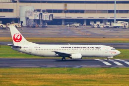 ちっとろむさんが、羽田空港で撮影した日本トランスオーシャン航空 737-4Q3の航空フォト(飛行機 写真・画像)