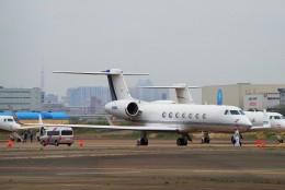 ちっとろむさんが、羽田空港で撮影したサウジアラムコ G500/G550 (G-V)の航空フォト(飛行機 写真・画像)
