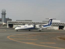 ヒロリンさんが、新千歳空港で撮影したANAウイングス DHC-8-402Q Dash 8の航空フォト(飛行機 写真・画像)