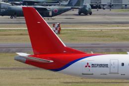blowgunさんが、名古屋飛行場で撮影した三菱航空機 MRJ90STDの航空フォト(飛行機 写真・画像)