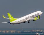 RUNWAY23.TADAさんが、羽田空港で撮影したソラシド エア 737-881の航空フォト(飛行機 写真・画像)