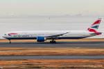 RUNWAY23.TADAさんが、羽田空港で撮影したブリティッシュ・エアウェイズ 777-336/ERの航空フォト(飛行機 写真・画像)