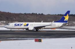 神宮寺ももさんが、新千歳空港で撮影したスカイマーク 737-82Yの航空フォト(飛行機 写真・画像)
