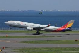メンチカツさんが、羽田空港で撮影したアシアナ航空 A330-323Xの航空フォト(飛行機 写真・画像)