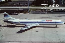 tassさんが、パリ オルリー空港で撮影したエールアンテール SE-210 Caravelleの航空フォト(飛行機 写真・画像)