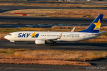 RUNWAY23.TADAさんが、羽田空港で撮影したスカイマーク 737-8ALの航空フォト(飛行機 写真・画像)