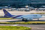 RUNWAY23.TADAさんが、羽田空港で撮影したタイ国際航空 747-4D7の航空フォト(飛行機 写真・画像)