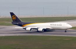Asamaさんが、香港国際空港で撮影したUPS航空 747-8Fの航空フォト(飛行機 写真・画像)