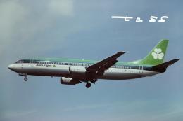 tassさんが、ロンドン・ヒースロー空港で撮影したエア・リンガス 737-448の航空フォト(飛行機 写真・画像)