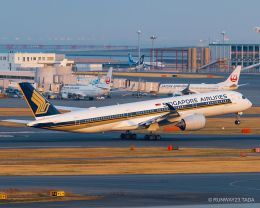 RUNWAY23.TADAさんが、羽田空港で撮影したシンガポール航空 A350-941の航空フォト(飛行機 写真・画像)