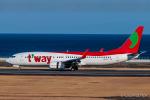 RUNWAY23.TADAさんが、大分空港で撮影したティーウェイ航空 737-8Q8の航空フォト(飛行機 写真・画像)