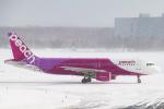 RUNWAY23.TADAさんが、新千歳空港で撮影したピーチ A320-214の航空フォト(飛行機 写真・画像)