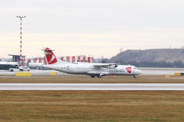 BTYUTAさんが、ヴァーツラフ・ハヴェル・プラハ国際空港で撮影したチェコ航空 ATR-72-500 (ATR-72-212A)の航空フォト(飛行機 写真・画像)