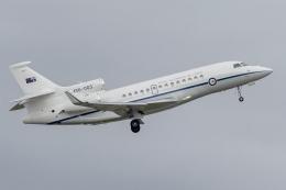 mameshibaさんが、シドニー国際空港で撮影したオーストラリア空軍 Falcon 7Xの航空フォト(飛行機 写真・画像)