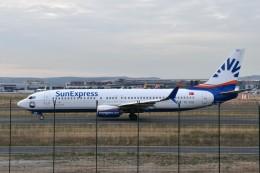 こじゆきさんが、フランクフルト国際空港で撮影したサンエクスプレス 737-8HCの航空フォト(飛行機 写真・画像)