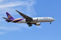 こじゆきさんが、スワンナプーム国際空港で撮影したタイ国際航空 777-2D7/ERの航空フォト(飛行機 写真・画像)