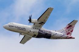 キャスバルさんが、ダニエル・K・イノウエ国際空港で撮影したオハナ・バイ・ハワイアン ATR-42-500の航空フォト(飛行機 写真・画像)
