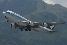 Hariboさんが、香港国際空港で撮影したキャセイパシフィック航空 747-467(BCF)の航空フォト(飛行機 写真・画像)