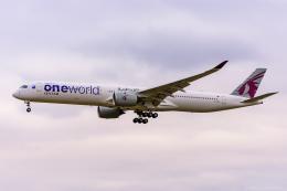 ぱん_くまさんが、成田国際空港で撮影したカタール航空 A350-1041の航空フォト(飛行機 写真・画像)