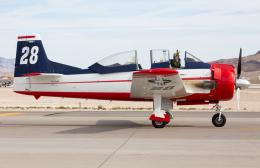 (新)ふぁんとむ改さんが、ネリス空軍基地で撮影したアメリカ個人所有 T-28B Trojanの航空フォト(飛行機 写真・画像)