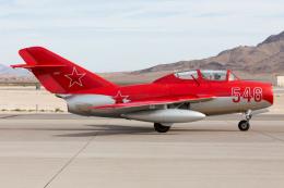 (新)ふぁんとむ改さんが、ネリス空軍基地で撮影したアメリカ企業所有 MiG-15UTIの航空フォト(飛行機 写真・画像)