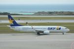 LEGACY-747さんが、那覇空港で撮影したスカイマーク 737-86Nの航空フォト(飛行機 写真・画像)