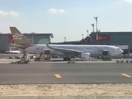 こじゆきさんが、イスタンブール空港で撮影したリビア航空 A330-202の航空フォト(飛行機 写真・画像)