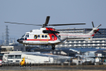 PASSENGERさんが、八尾空港で撮影した朝日航洋 AS332L1 Super Pumaの航空フォト(飛行機 写真・画像)