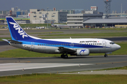 tsubameさんが、福岡空港で撮影したエアーニッポン 737-5Y0の航空フォト(飛行機 写真・画像)