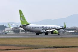 ワイエスさんが、鹿児島空港で撮影したソラシド エア 737-881の航空フォト(飛行機 写真・画像)