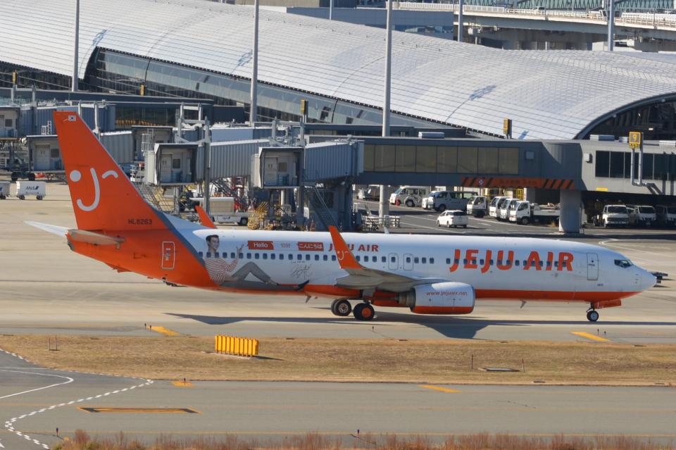 Cherry blossoms さんのチェジュ航空 Boeing 737-800 (HL8263) 航空フォト