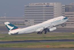 muneyan007さんが、羽田空港で撮影したキャセイパシフィック航空 747-467の航空フォト(飛行機 写真・画像)