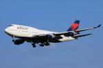 TRAVAIRさんが、成田国際空港で撮影したデルタ航空 747-451の航空フォト(飛行機 写真・画像)