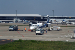 kumapapaさんが、成田国際空港で撮影した全日空 DHC-8-400の航空フォト(飛行機 写真・画像)