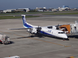 kumapapaさんが、松山空港で撮影した全日空 DHC-8-402Q Dash 8の航空フォト(飛行機 写真・画像)