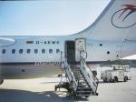 金魚さんが、フランクフルト国際空港で撮影したユーロウイングス BAe-146-200の航空フォト(飛行機 写真・画像)