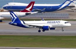 Asamaさんが、香港国際空港で撮影したエーゲ航空 A320-271Nの航空フォト(飛行機 写真・画像)