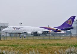 雲霧さんが、成田国際空港で撮影したタイ国際航空 747-4D7の航空フォト(飛行機 写真・画像)
