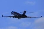 ピーチさんが、岡山空港で撮影したウィルミントン・トラスト・カンパニー BD-700-1A10 Global 6000の航空フォト(飛行機 写真・画像)