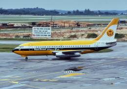 パール大山さんが、シンガポール・チャンギ国際空港で撮影したロイヤルブルネイ航空 737-2M6C/Advの航空フォト(飛行機 写真・画像)