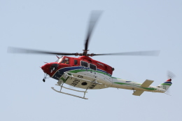 赤ちんさんが、茨城県取手市東地先 取手緑地運動公園で撮影した栃木県消防防災航空隊 412EPの航空フォト(飛行機 写真・画像)