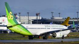 パンダさんが、成田国際空港で撮影した春秋航空日本 737-8ALの航空フォト(飛行機 写真・画像)