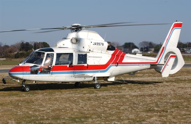 かぐさんが、ホンダエアポートで撮影したITCアエロリーシング SA365N1 Dauphin 2の航空フォト(飛行機 写真・画像)