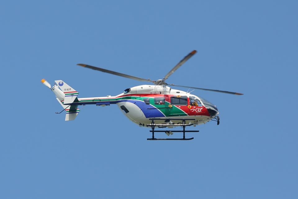 赤ちんさんの茨城県防災航空隊 Kawasaki BK117 (JA298R) 航空フォト