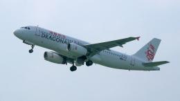 撮り撮り人さんが、岡山空港で撮影した香港ドラゴン航空 A320-232の航空フォト(飛行機 写真・画像)