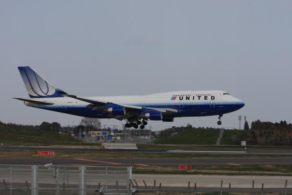 ゆう.さんのユナイテッド航空 Boeing 747-400 (N116UA) 航空フォト