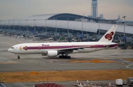 shibu03さんが、関西国際空港で撮影したタイ国際航空 777-2D7の航空フォト(飛行機 写真・画像)