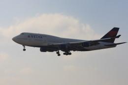 ゆう.さんが、成田国際空港で撮影したデルタ航空 747-451の航空フォト(飛行機 写真・画像)