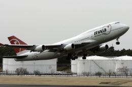 planetさんが、成田国際空港で撮影したノースウエスト航空 747-451の航空フォト(飛行機 写真・画像)
